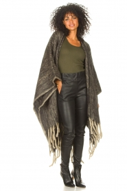 JC Sophie |  Knitted poncho Jaelle | grey  | Picture 4