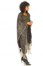 JC Sophie |  Knitted poncho Jaelle | grey  | Picture 5