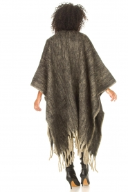 JC Sophie |  Knitted poncho Jaelle | grey  | Picture 6