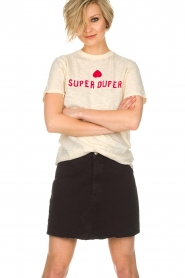 Zoe Karssen | T-shirt Super duper | naturel  | Afbeelding 2