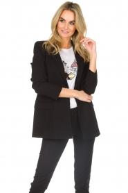 Patrizia Pepe |  Classic blazer Zoe | black  | Picture 4