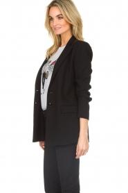 Patrizia Pepe |  Classic blazer Zoe | black  | Picture 5