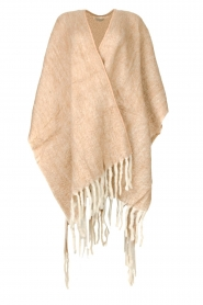 JC Sophie |  Knitted poncho Jaelle | camel  | Picture 1