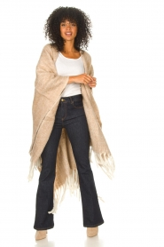 JC Sophie |  Knitted poncho Jaelle | camel  | Picture 3