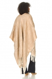JC Sophie |  Knitted poncho Jaelle | camel  | Picture 7