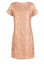Rosemunde | Semi-sheer jurk Megan | roze/goud metallic  | Afbeelding 1