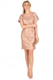 Rosemunde | Semi-sheer jurk Megan | roze/goud metallic  | Afbeelding 3