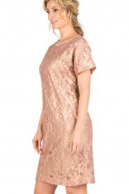 Rosemunde | Semi-sheer jurk Megan | roze/goud metallic  | Afbeelding 4
