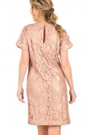 Rosemunde | Semi-sheer jurk Megan | roze/goud metallic  | Afbeelding 5