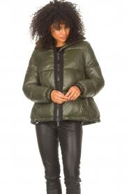 JC Sophie |  Puffer jacket Jennifer | green  | Picture 4