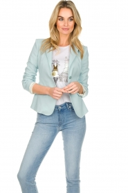 Patrizia Pepe |  Classic blazer Juna | light blue  | Picture 4