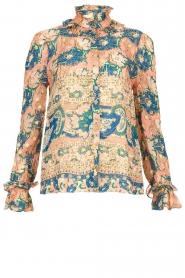 Antik Batik | Blouse with print Abbije | pink  | Picture 1