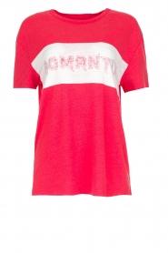 Zoe Karssen | T-shirt Romantix | rood  | Afbeelding 1