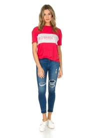 Zoe Karssen | T-shirt Romantix | rood  | Afbeelding 3