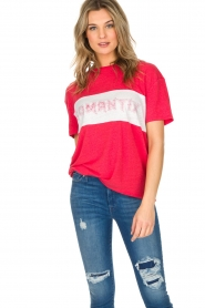Zoe Karssen | T-shirt Romantix | rood  | Afbeelding 2