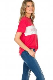 Zoe Karssen | T-shirt Romantix | rood  | Afbeelding 4