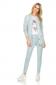 Patrizia Pepe |  Trousers Miranda | light blue  | Picture 2