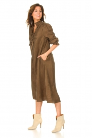 JC Sophie |  Oversized midi dress Junior | green  | Picture 4