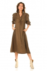 JC Sophie |  Oversized midi dress Junior | green  | Picture 2