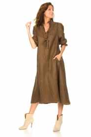 JC Sophie |  Oversized midi dress Junior | green  | Picture 3
