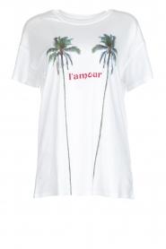 Zoe Karssen | T-shirt L'amour | wit  | Afbeelding 1
