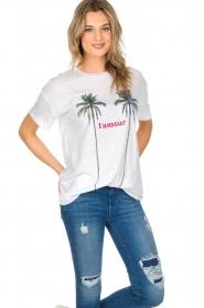 Zoe Karssen | T-shirt L'amour | wit  | Afbeelding 4