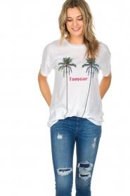 Zoe Karssen | T-shirt L'amour | wit  | Afbeelding 2