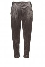 Rabens Saloner |  Plisse trousers Delight | Silver  | Picture 1