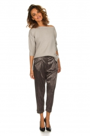 Rabens Saloner |  Plisse trousers Delight | Silver  | Picture 6