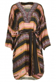 Rabens Saloner |  Printed satin dress Berna | multi  | Picture 1