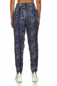 Rabens Saloner |  Printed pants Ane | blue  | Picture 5