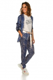 Rabens Saloner |  Printed pants Ane | blue  | Picture 6