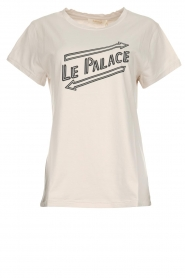 Rabens Saloner |  T-shirt with text print Damina | natural  | Picture 1
