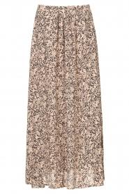 JC Sophie |  Maxi skirt with print Fleur | black  | Picture 1
