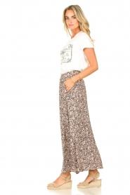 JC Sophie |  Maxi skirt with print Fleur | black  | Picture 6