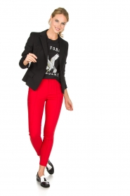 Zoe Karssen | 100% katoenen T-shirt Acadamy | zwart  | Afbeelding 3