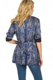 Rabens Saloner |  Printed kimono Annika | blue  | Picture 5