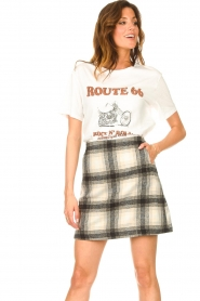 JC Sophie |  Checkered skirt Jacklyn | black  | Picture 4