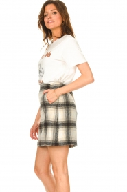 JC Sophie |  Checkered skirt Jacklyn | black  | Picture 6