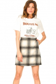 JC Sophie |  Checkered skirt Jacklyn | black  | Picture 2