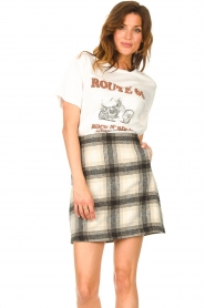 JC Sophie |  Checkered skirt Jacklyn | black  | Picture 5