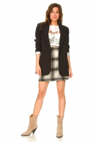 JC Sophie |  Checkered skirt Jacklyn | black  | Picture 3