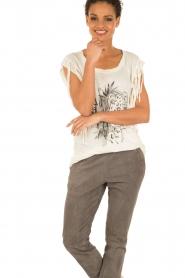 Linnen T-shirt Maya | wit
