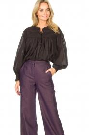 JC Sophie |  Cotton blouse Jade | black  | Picture 2