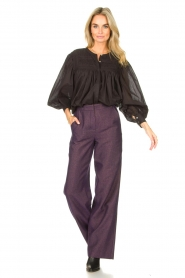 JC Sophie |  Cotton blouse Jade | black  | Picture 3