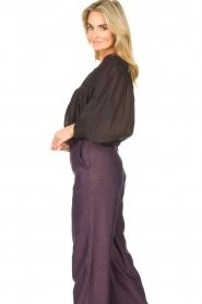 JC Sophie |  Cotton blouse Jade | black  | Picture 6