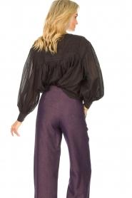 JC Sophie |  Cotton blouse Jade | black  | Picture 7