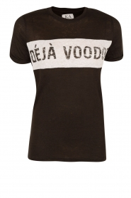 Zoe Karssen | T-shirt Deja Voodoo | zwart  | Afbeelding 1