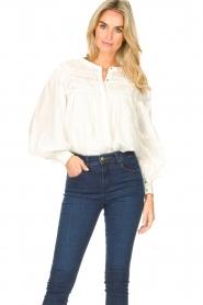 JC Sophie |  Cotton blouse Jade | white  | Picture 2