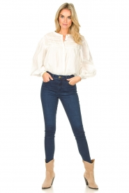 JC Sophie |  Cotton blouse Jade | white  | Picture 3